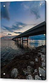 Indian Key Channel Acrylic Print by Dan Vidal