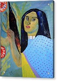 Indian Maiden Acrylic Print