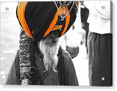 Indian Man Wearing Turban Acrylic Print