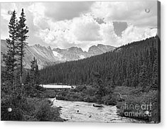 Indian Peaks Summer Day Bw Acrylic Print by James BO  Insogna
