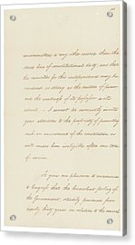 Indian Removal Act. Signed Into Law Acrylic Print by Everett