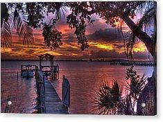 Indian River Sunset Acrylic Print by Lisa Goddard