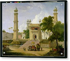 Indian Temple Acrylic Print by Thomas Daniell