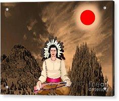 Sitting Bull Acrylic Print by Belinda Threeths