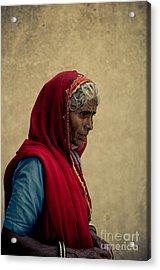 Indian Woman Acrylic Print by Inhar Mutiozabal