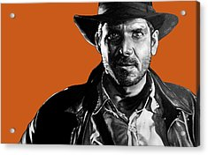 Indiana Jones Art Signed Prints Available At Laartwork.com Coupon Code Kodak Acrylic Print by Leon Jimenez