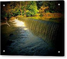 Indiana Waterfall Acrylic Print by Joyce Kimble Smith