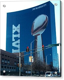 Indianapolis Marriott Trubute To Super Bowl 46 Acrylic Print