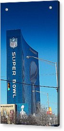 Indianapolis Marriott Welcomes Super Bowl 46 Acrylic Print