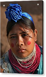 Indigenous Guarani Women. Department Of Santa Cruz. Republic Of Bolivia.    Acrylic Print by Eric Bauer