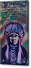 Indigenous Motto Earth Tones Acrylic Print