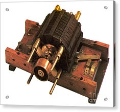 Induction Motor Acrylic Print by Photo Researchers