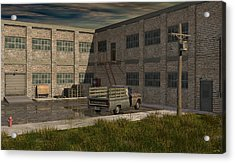Industrial Courtyard Acrylic Print by Robin Meade