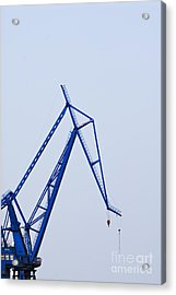 Industrial Crane Acrylic Print by Sam Bloomberg-rissman