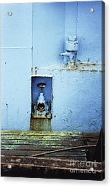 Industrial Detail In Turquoise Blue Acrylic Print