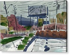 Industrial Park Two Acrylic Print by Donald Maier