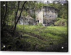 Industrial Ruin Acrylic Print by Amanda Elwell