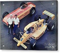 Indy 500 Historical Race Cars Acrylic Print by John Black