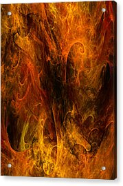 Inferno Acrylic Print by Niels Walther