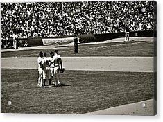 Acrylic Print featuring the photograph Infield Meeting by Eric Tressler
