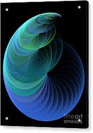 Infinity In Blue Acrylic Print