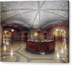 Acrylic Print featuring the photograph Info Desk by Art Whitton