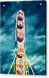 infrared Ferris wheel Acrylic Print by Stelios Kleanthous