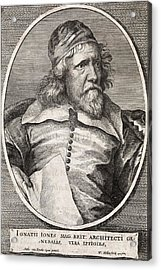 Inigo Jones, British Architect Acrylic Print by Middle Temple Library