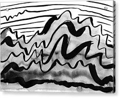 Ink Mountains Acrylic Print by Hakon Soreide