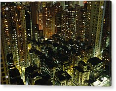 Inland View Of Sheung Wan And Central Acrylic Print by Justin Guariglia