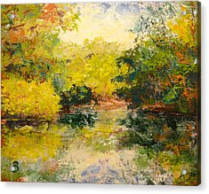 Acrylic Print featuring the painting Inlet by Joe Bergholm