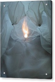 Acrylic Print featuring the photograph Inner Flame by Diana Riukas