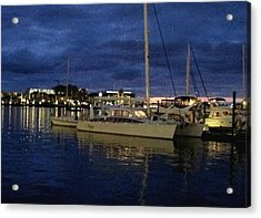 Inner Harbour At Night Acrylic Print