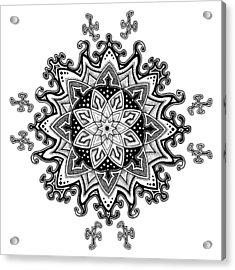 Innocent Snowflake Acrylic Print by Ansel Cummings