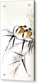 Inseparable Couple Acrylic Print by Ming Yeung