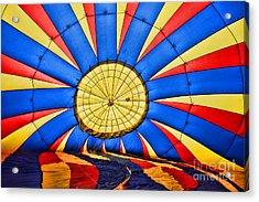 Inside A Hot Air Balloon Acrylic Print by Paul Ward
