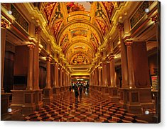 Inside A Hotel In Las Vegas Acrylic Print by Jorge Fajl