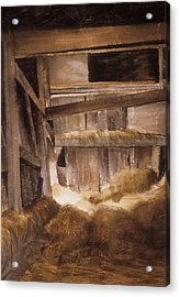 Acrylic Print featuring the painting Inside Keeler's Barn by Karol Wyckoff