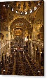 Inside San Marcos Basilica Acrylic Print by Jim Richardson