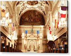 Inside St Louis Cathedral Jackson Square French Quarter New Orleans Diffuse Glow Digital Art Acrylic Print by Shawn O'Brien