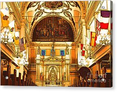 Inside St Louis Cathedral Jackson Square French Quarter New Orleans Digital Art Acrylic Print by Shawn O'Brien