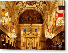 Inside St Louis Cathedral Jackson Square French Quarter New Orleans Acrylic Print by Shawn O'Brien
