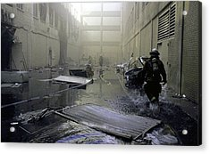 Inside The Damaged Pentagon Firemen Acrylic Print