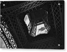 Acrylic Print featuring the photograph Inside The Eiffel Tower by Eric Tressler