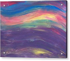 Inside The Rainbow Acrylic Print by Jeanette Stewart