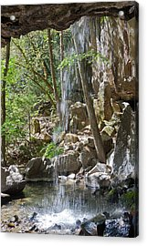 Inside The Waterfall Acrylic Print
