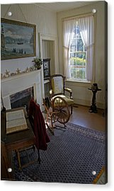 Inside Yaquina Bay Lighthouse Acrylic Print by Mick Anderson