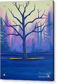 Acrylic Print featuring the painting Inspiration Tree by Stacey Zimmerman