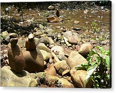 Installation By The River Acrylic Print by Piety Dsilva