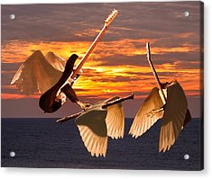 Acrylic Print featuring the mixed media Instrumental Rift by Eric Kempson